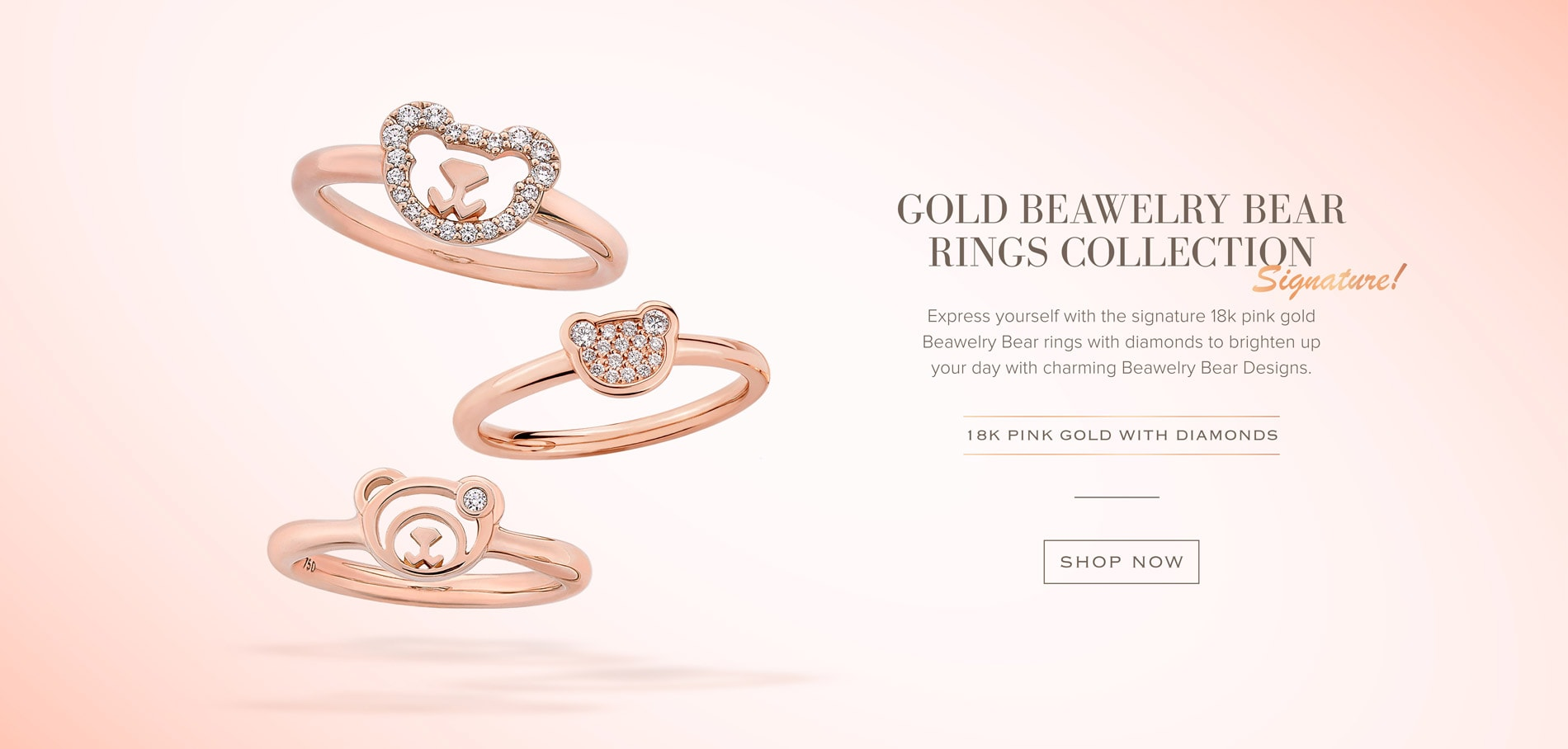 18k gold Beawelry Bear collection