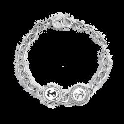 Silver Beawelry Lock CZ Bracelet