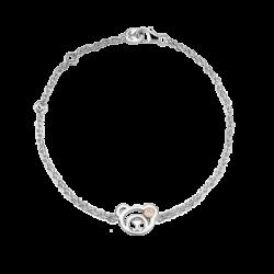 Silver & 14K Gold Beawelry Bear Diamond Bracelet