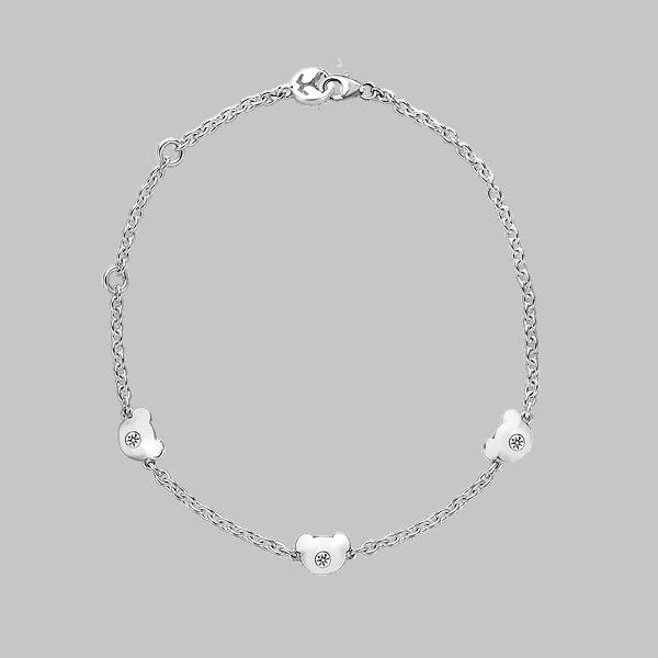 Silver Bear CZ Bracelet