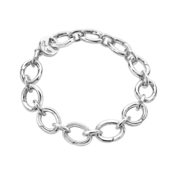 Silver Opened Links Bracelet