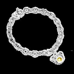 Silver Bear Citrine Bracelet