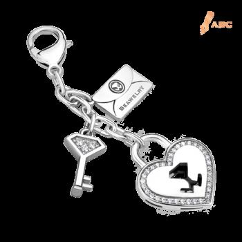 Heart lock & Key CZ Bag Charm
