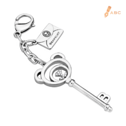 Beawelry Bear Key CZ Bag Charm