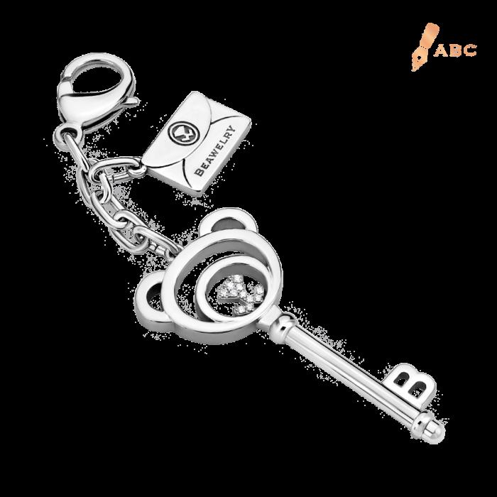 Beawelry Bear Key CZ Bag Charm