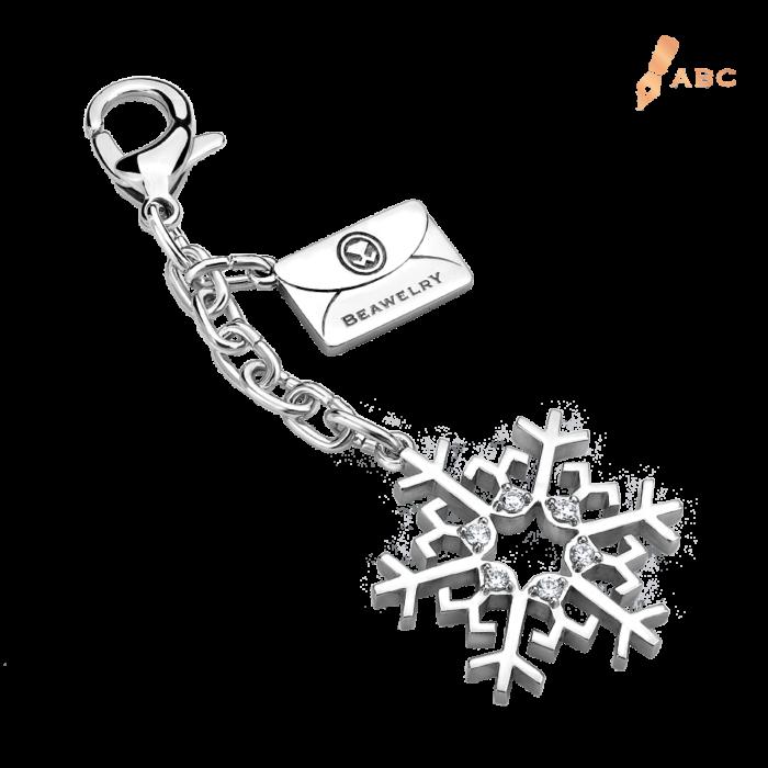 Snowflake CZ Bag Charm