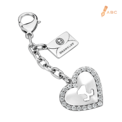 Heart CZ Bag Charm