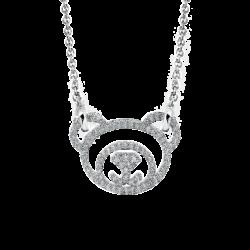 Silver Bear CZ Pendant