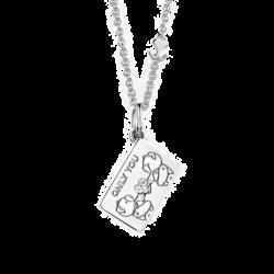 "18K White Gold ""Only You"" Diamond Envelope Pendant"