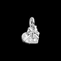Silver Heart Gift Box Charm