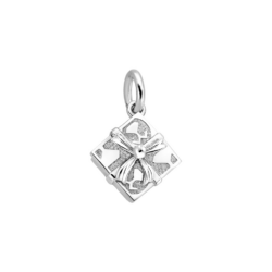 Silver Square Gift Box Charm