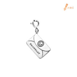 Silver Small Personalise Envelope Charm