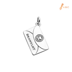 Silver Large Personalise Envelope Charm
