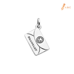 Silver Medium Personalize Envelope Charm