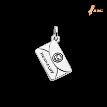 Silver Medium Personalize Envelope Charm