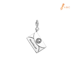 18K White Gold Personalise Envelope Charm