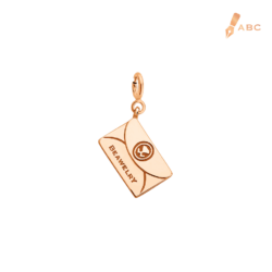18K Pink Gold Personalise Envelope Charm