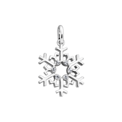 Silver Snowflake CZ Charm
