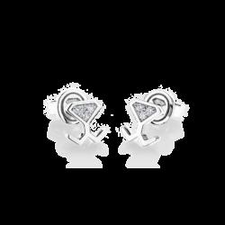18K White Gold Diamond Mini Beawelry Earrings