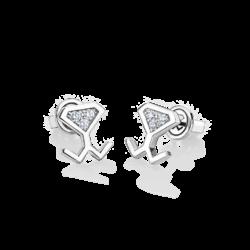 18K White Gold Diamond Beawelry Earrings