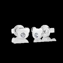 Silver Bear CZ Earrings