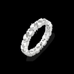 Silver Beawelry Eternity Logo Band Ring
