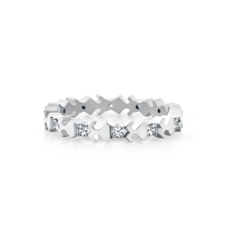 18K White Gold Diamond Beawelry Eternity Band Ring