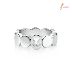 Silver Oval Logo Band Ring