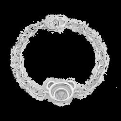 Silver Beawelry Bear CZ Bracelet