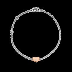 Silver & 14K Gold Bear Diamond Bracelet