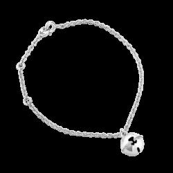 Silver Bearwelry Bell CZ Bracelet