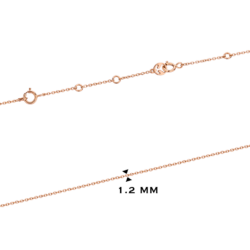 18K Pink Gold Chain