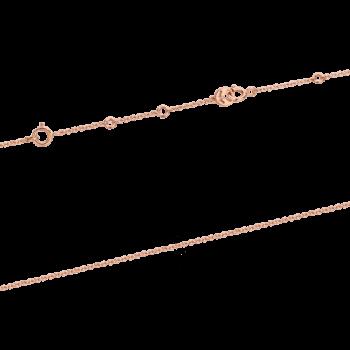 18K Pink Gold Rutile Quartz & Diamond Gift Box Pendant