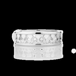 Silver Filigree Beawelry Eternity Band Ring