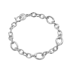 Silver Small 4 Opened Links Bracelet