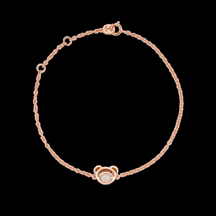 18K Gold Bear Diamond Cluster Bracelet