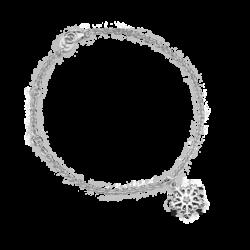Silver Snowflake CZ Bracelet