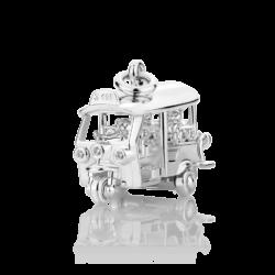 Silver Tuk Tuk CZ Charm