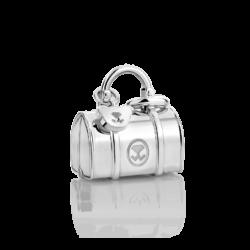 Silver Mini Handbag Charm