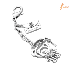 Graduation Beawelry Bear CZ Bag Charm