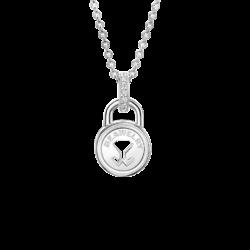 Silver Beawelry Lock CZ Pendant