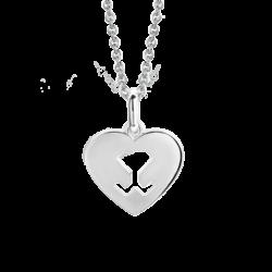 18K White Gold Beawelry Heart Pendant