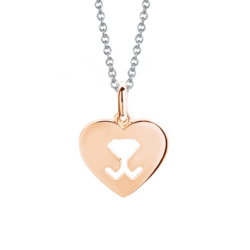 18K Two-tone Gold Beawelry Heart Pendant