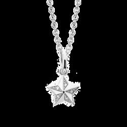 Silver Star CZ Pendant