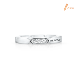 18K White Gold Diamond Band Ring