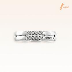 18K White Gold Diamond Double Band Ring