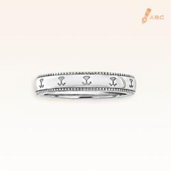 18K White Gold  Beawelry Band Ring