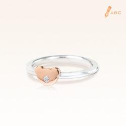 Silver & 14K Gold Beawelry Bear Diamond Ring