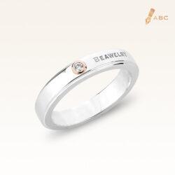 Silver & 14K Gold Diamond Band Ring