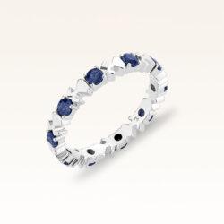18K White Gold Sapphire Eternity Ring
